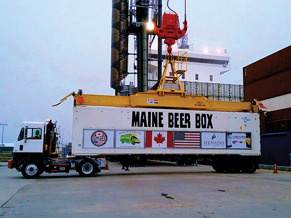 Big ol' beer box makes its way into town for the Seaport Cider & BeerFest. - SUBMITTED