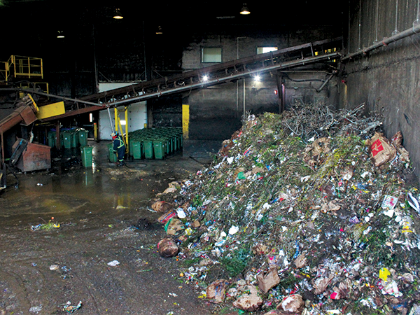 A pile of compost dumped by trucks at the Miller waste facility. - VICTORIA WALTON