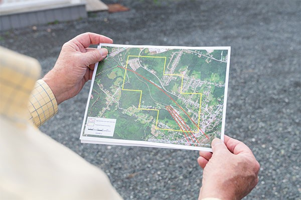 A map of the proposed (and now cancelled) coal mine site on Town land in Westville. - IAN SELIG