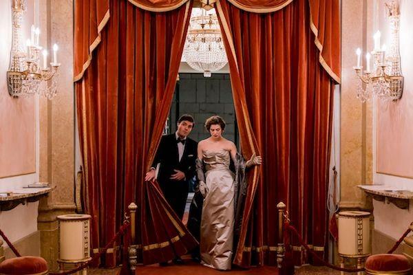 Tom Burke and Honor Swinton Byrne serve Dynasty-era glamour as their relationship smoulders. - A24FILMS.COM FILM STILL