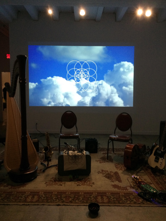 A sweet stage setup from New Hermitage's current tour.