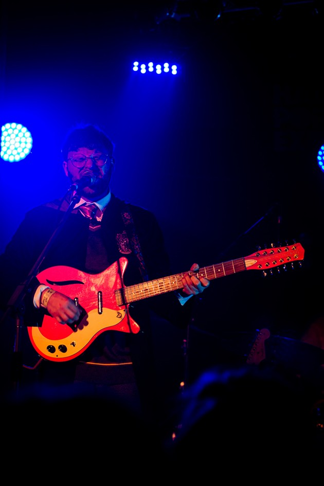 Walrus's Justin Murphy heckled his bandmates and stole the show with his bright-and-brash brand of fuzz-rock. - MARY COLLIER PHOTO