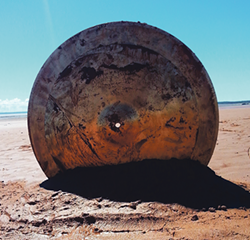 "Intertidal Cymbal Works, a place-responsive sound art and performance, sees Lindsay Dobbins research ""how traditional drums embody the environment they come from."". - SUBMITTED"