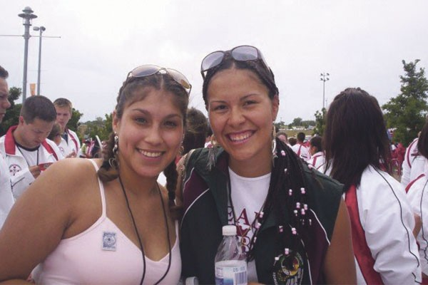 Savvy Simon (right) representing New Brunswick at the 2006 NAIG in Denver, Colorado. - SUBMITTED