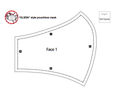 The sample pattern provided by Northwood is a simple two-part pattern.