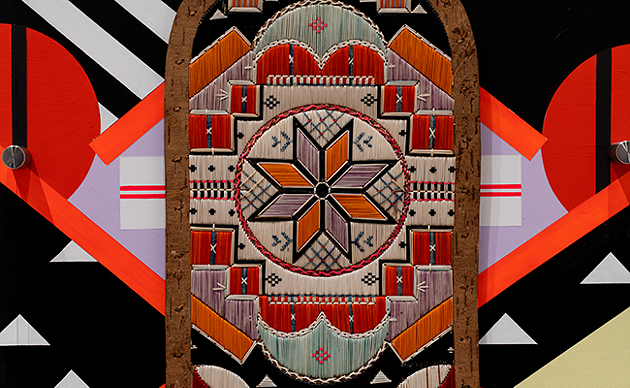 Jordan Bennett's 2019 Art Gallery of Nova Scotia showcase, Ketu' elmita'jik, paired quillwork objects with painted murals for a dizzying array of shapes and colours. - RAW PHOTOGRAPHY STUDIO