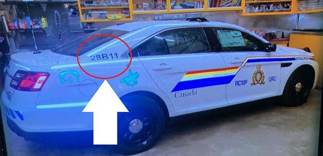 The mock RCMP car the gunman drove on April 18 and 19. - NOVA SCOTIA RCMP