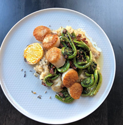 Julep turns fiddleheads into a work of art in this scallop dish - JULEP
