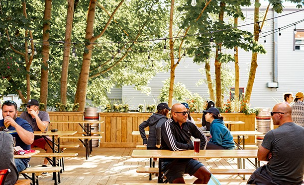 The Oxford Taproom's patio has room for you and your bubble to enjoy some brews . - RYAN WILLIAMS