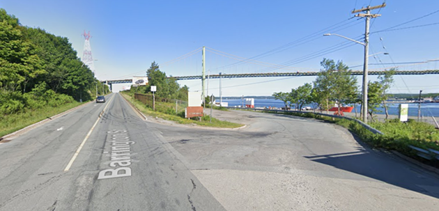 Right now, the only road leading to Africville is here, off busy North Barrington Street. - GOOGLE MAPS