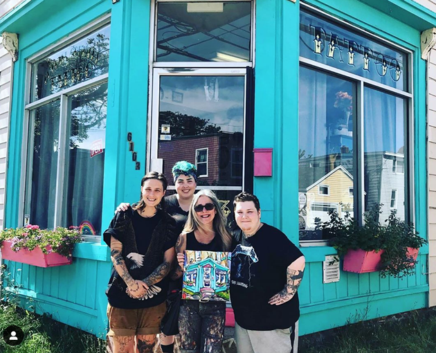 Outlaw Tatttoo adds a pop of colour to North Street with its bright teal shopfront. - INSTAGRAM