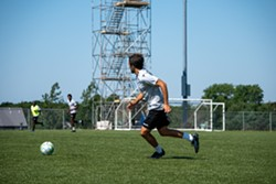 Alex de Carolis, one of the newly announced captains of the Wanderers, training in PEI. - HALIFAX WANDERERS