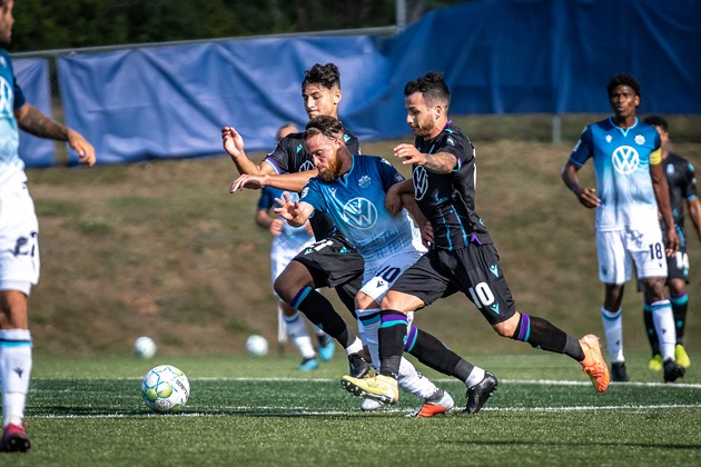 Alessandro Riggi trains with The HFX Wanderers FC on PEI. - CANADIAN PREMIER LEAGUE