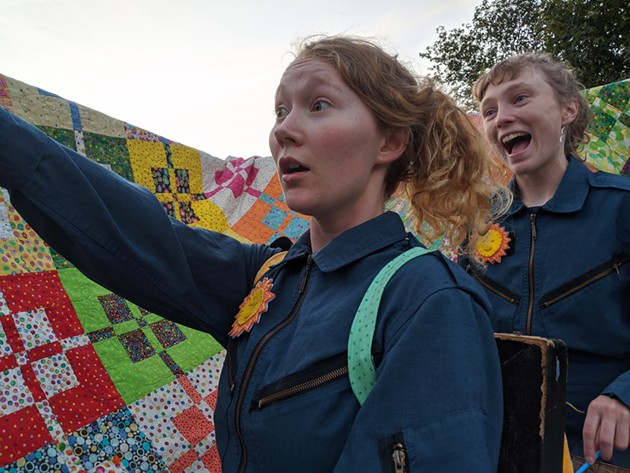 This weekend, as part of the Halifax Fringe Festival, A Tale on Two Wheels will bring whimsy and live performance to a handful of HRM green spaces. - SUBMITTED