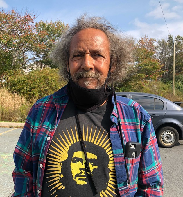 Eddie Carvery was in North Preston this weekend calling on premier Stephen McNeil to do better by African Nova Scotians than a performative apology. - SEYITAN MORITIWON