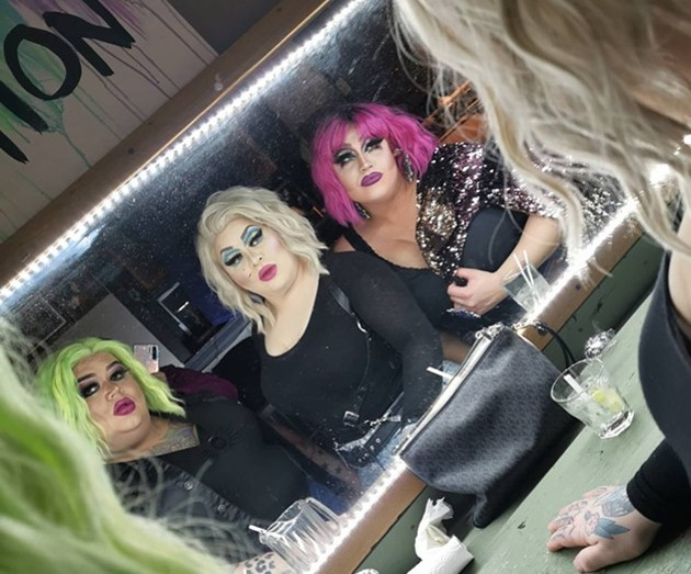 Haus of Jeckyll brings fierce frights to Murphy's On The Water with its devilish spin on drag this Saturday. - FACEBOOK SCREENSHOT