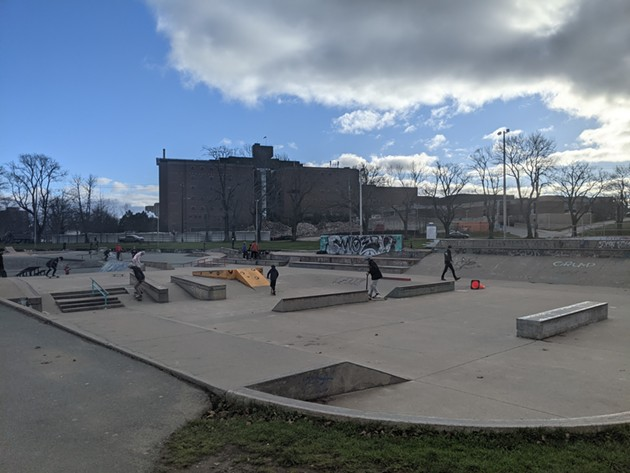 As recreation facilities closed across Halifax because of Covid, the Halifax Common skatepark saw a steady stream of skaters, rollerbladers and bikers. Even on a cold day in December, the skate park is getting used. - THE COAST
