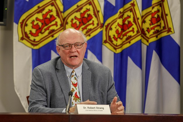 Strang busts out a holiday tie for a pre-holiday Covid address. - NOVA SCOTIA
