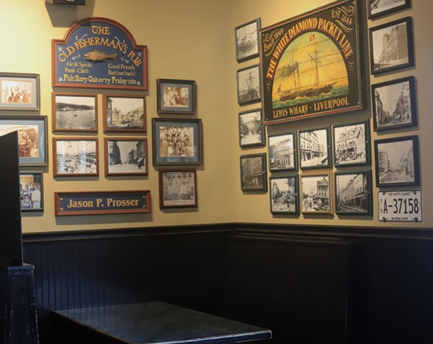 One of many booths at the Lion's Head adorned with memorabilia of days gone by. - VICTORIA WALTON