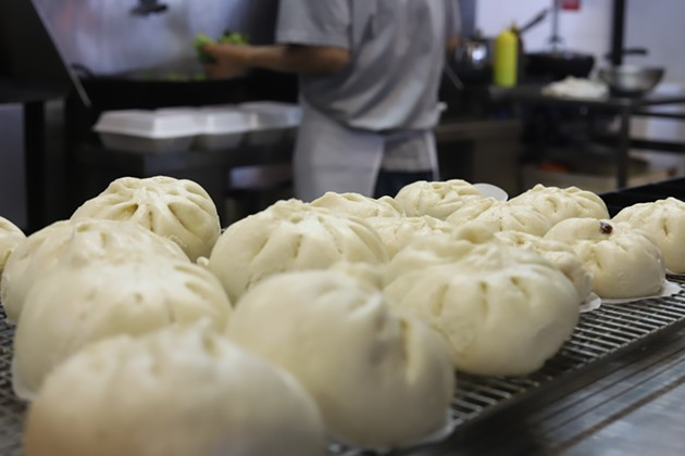 Chenpapa's steam buns sell out almost every Saturday. - VICTORIA WALTON
