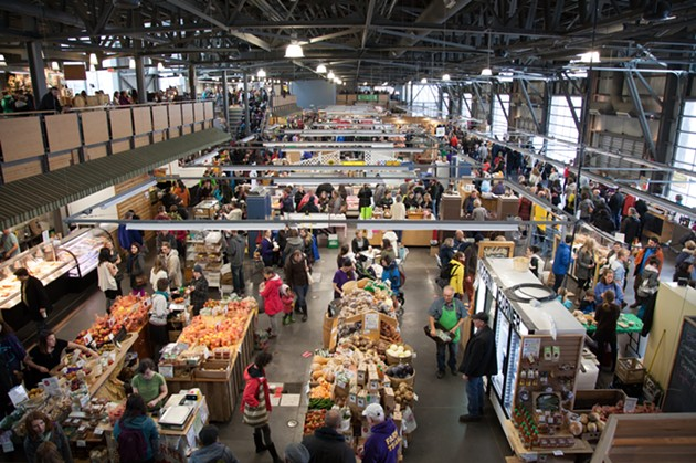The Halifax Seaport Farmers' Market on a bustling Saturday in the before times.