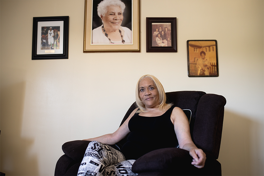 "Debi Upshaw asked why her mother, Evelina, wasn't moved to the hospital floor for people with COVID, and was told ""because almost everyone has it."" - MEGHAN TANSEY WHITTON"