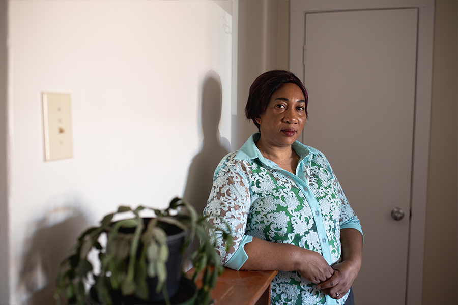 Personal support worker Glory Mamngong went to work at Northwood when it was the epicentre of the provincial outbreak. - MEGHAN TANSEY WHITTON