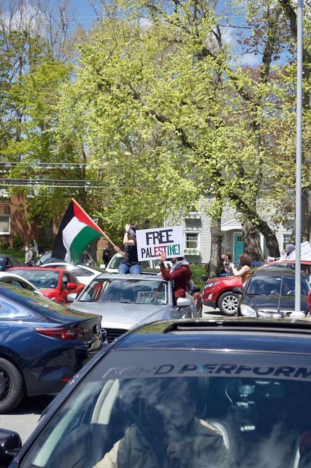 Pro-Palestinian car rally held to peacefully/COVID-19 safely demonstrate against the bombing in Gaza and illegal land seizures in Sheikh Jarrah by Apartheid Israel. - EASTAFRICANBATMAN