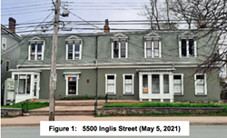 The Universalist Unitarian Church on Inglis Street, from HRM staff report. - HRM