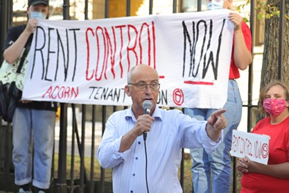 """NDP leader Gary Burrill said a permanent rent control law shouldn't be """"approached from the point of view of investments or the point of view of markets."""" - THE COAST"""