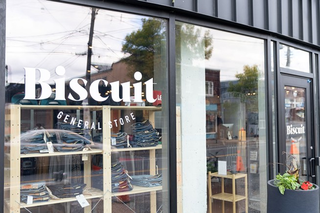 Biscuit's new floor-to-ceiling windows will give passersby a glimpse inside before they open the door. - IAN SELIG