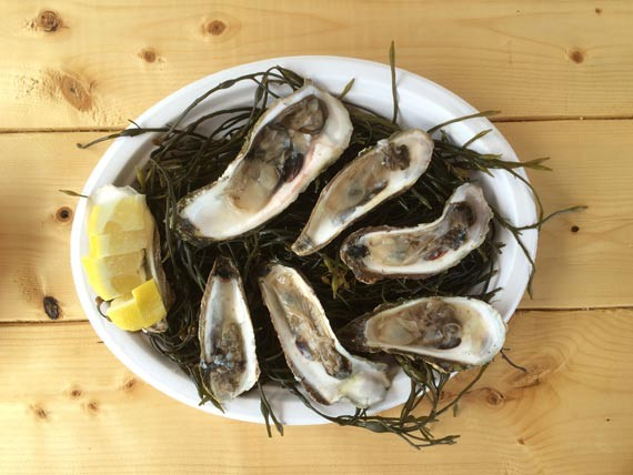 """Live shellfish is available to stay or go at Ryer, """"basically a garage full of lobsters."""""""
