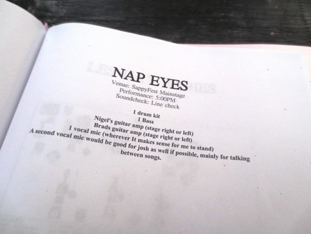Nap Eyes' rider, which is the cutest thing I've seen