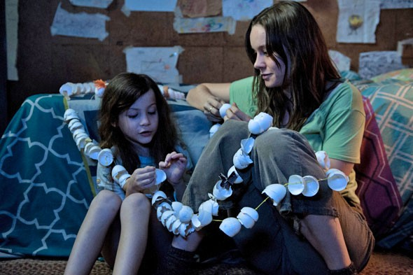 Jacob Tremblay (Jack) and Brie Larson (Ma) in Room
