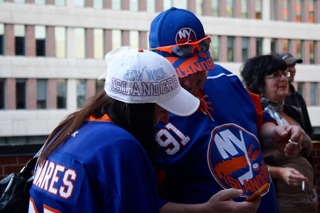 Islanders fans swagged TF out - ADRIA YOUNG