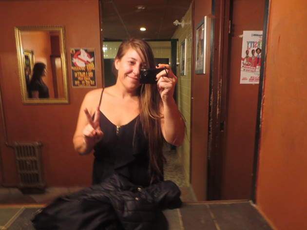 It's me in a bathroom, after-party at The Seahorse. - ADRIA YOUNG