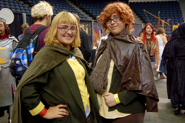 Hobbits (L: Paige Sawler, production manager at The Coast) - ADRIA YOUNG