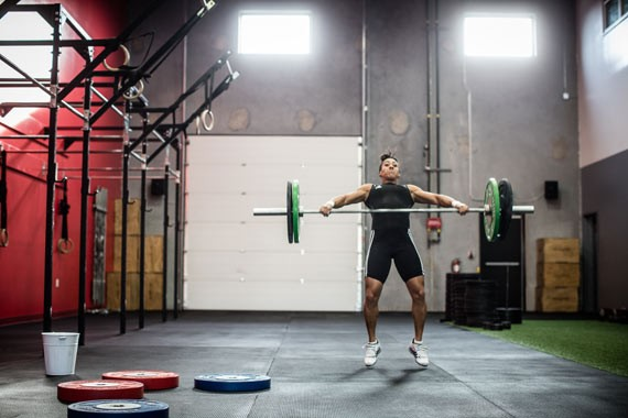 Helpful attributes Clarke brings to the weightlifting game: raw power, fearlessness. - RILEY SMITH
