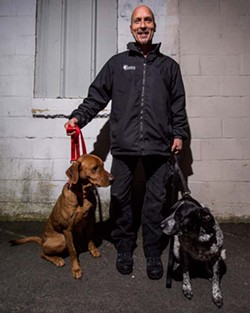 Bedbug detective Brian Barton and his bedbug-sniffing hounds. - SAM KEAN