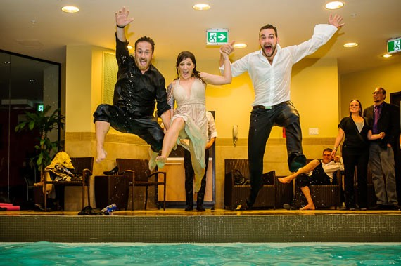 Liam Hennessey (left) will do nearly anything to make his clients happy. Cannonball included. - APPLEHEAD STUDIO