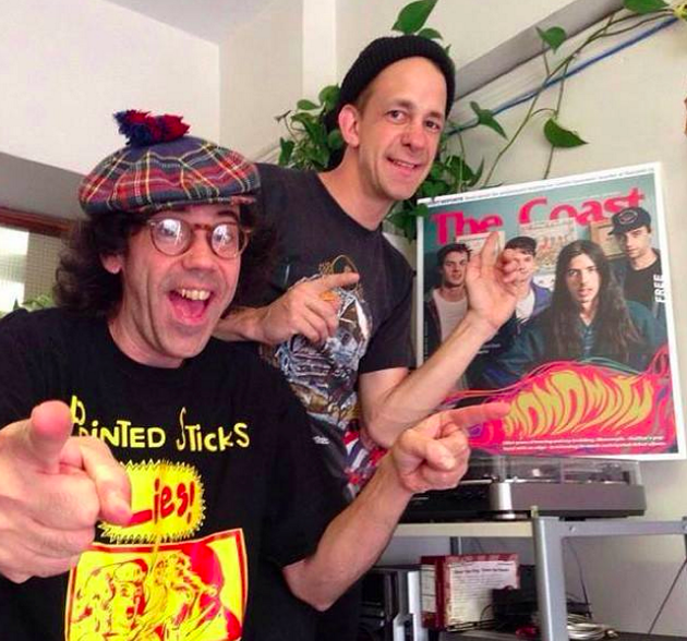 Finally a good reason to use this picture: Nardwuar, Robert Catherall and Monomyth on cover of The Coast at Vancouver's Mint Records last summer - MINT RECORDS