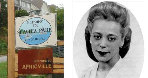 Africville Park (left,) Viola Desmond. - CHRIS BENJAMIN, NOVA SCOTIA PUBLIC ARCHIVES