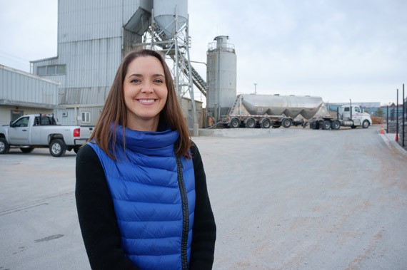 Jennifer Wagner, vice president of sustainability with Dartmouth's CarbonCure. - SAM KEAN