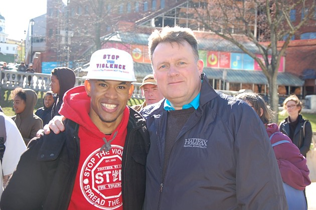 Organizer Quentrel Provo with mayor Mike Savage. - THE COAST