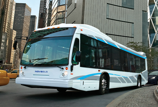 One of Nova Bus' buses, as seen on the company's website.