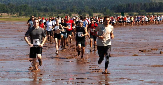Running on the Bay of Fundy - LEN WAGG