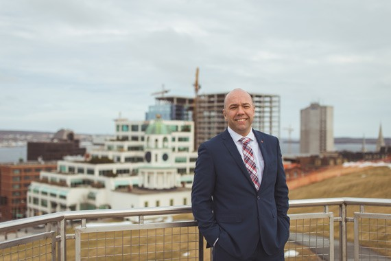 """""""There was literally a generation of Haligonians who never saw a construction crane downtown,"""" says former HRM By Design sparkplug, current MP for Halifax, Andy Fillmore. - DYLAN CHEW"""