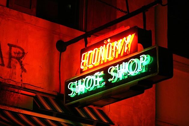 The Economy Shoe Shop sign on Argyle Street. - THE COAST
