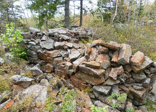 The mystery walls, pictured in 2011. - VIA EHALIFAXHISTORY.CA