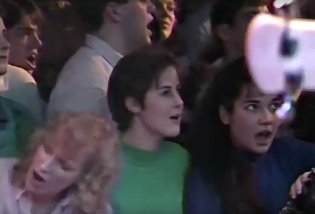 Fans in 1990—early to The Tragically Hip, late at the Misty Moon. - STILL FROM VIDEO